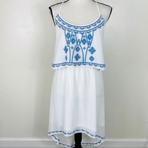 Chelsea & Violet Embroidered Peasant Dress Size L